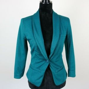 Mossimo Womens Teal Jacket/Blazer X-Small